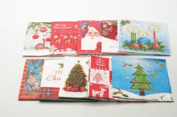 Χριστουγεννιάτικες Χαρτοπετσέτες 33x33 20TEM