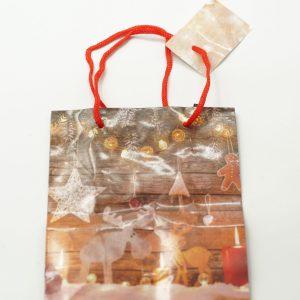 Τσάντα Χριστουγεννιάτικη με Κορδόνι 15x12x6