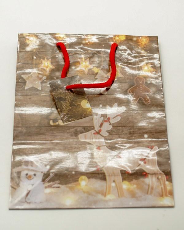 Τσάντα Χριστουγεννιάτικη με Κορδόνι 32x26x10