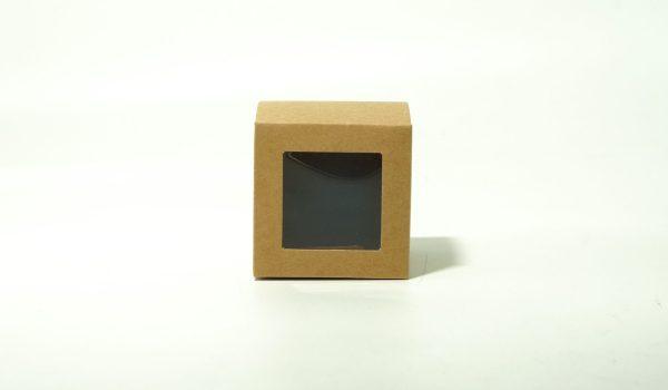 Κουτί Χάρτινο Κύβος Με Παράθυρο 6cm