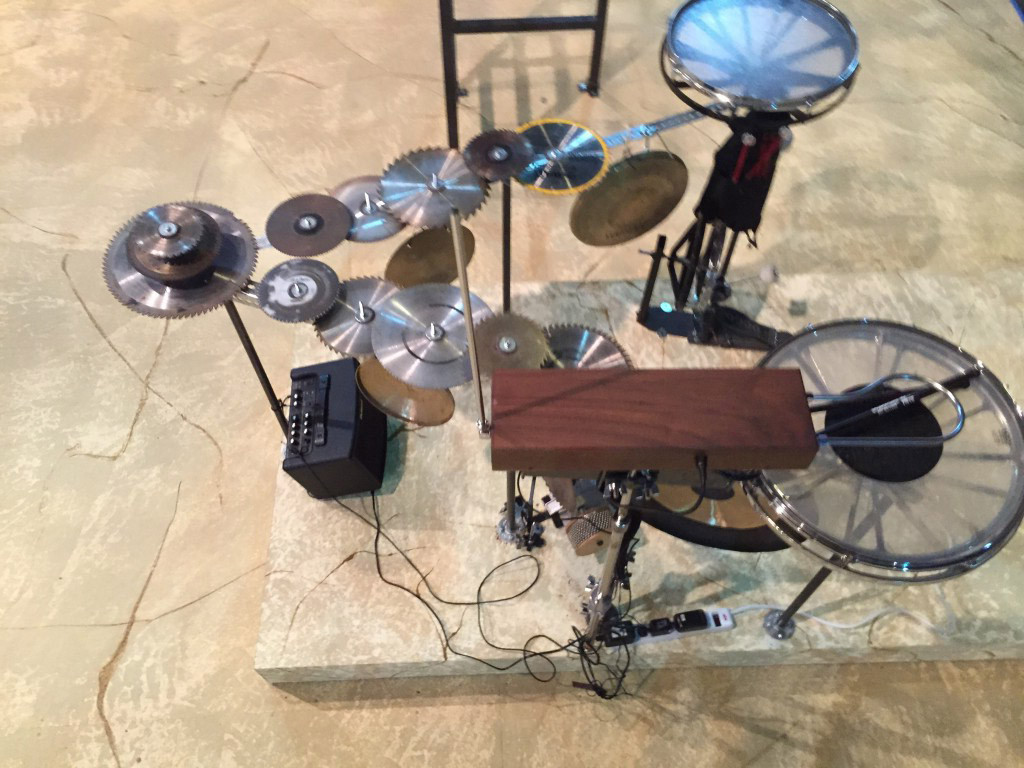 overhead shot of instruments for As You Like It at Theater Emory.