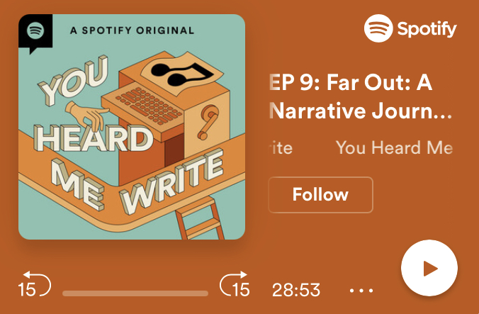 Music and storyline for a podcast