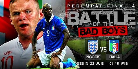 Preview: Inggris vs Italia, pertarungan dua raksasa