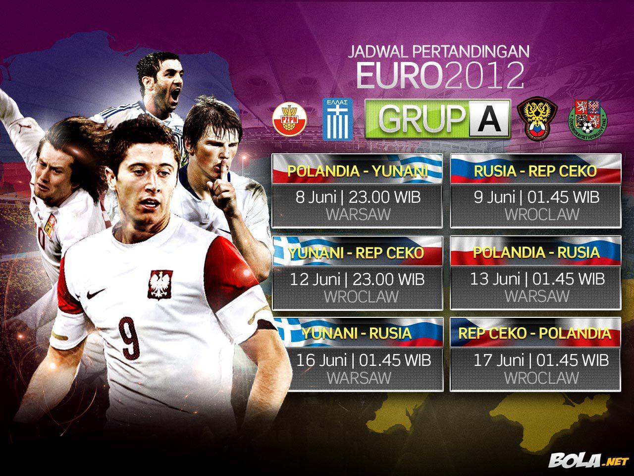 Jadwal Euro 2012 Grup A