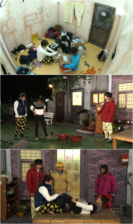 Penampilan Super Junior di Lee Soo Geun and Kim Byung Man's High Class Society ©soompi.com