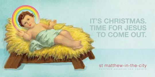 Iklan bayi Yesus gay muncul di Selandia Baru