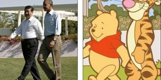 china sensor tokoh kartun winnie the pooh karena mirip