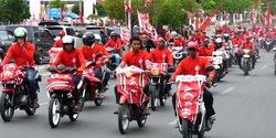 Aksi konvoi ratusan simpatisan Partai Aceh