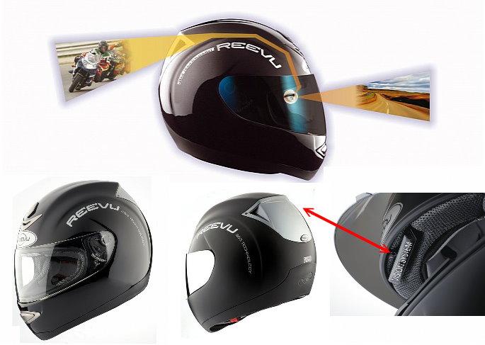 Reevu MSX-1, Helm Berkaca Spion
