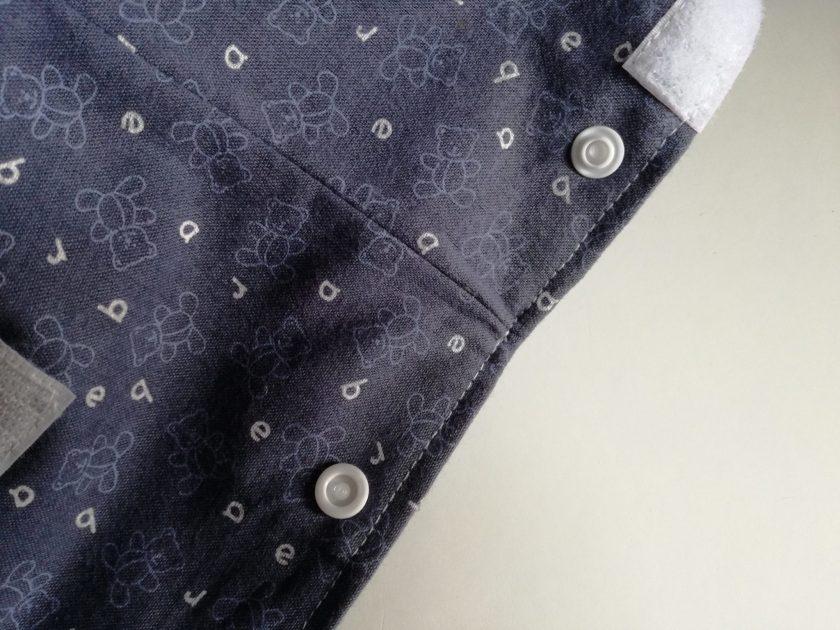 Poche pour couches lavables : pose des boutons pressions