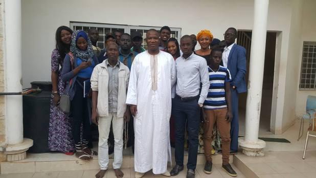 Mamadou Djigo recevant de jeunes souteneurs dont Modou Leye