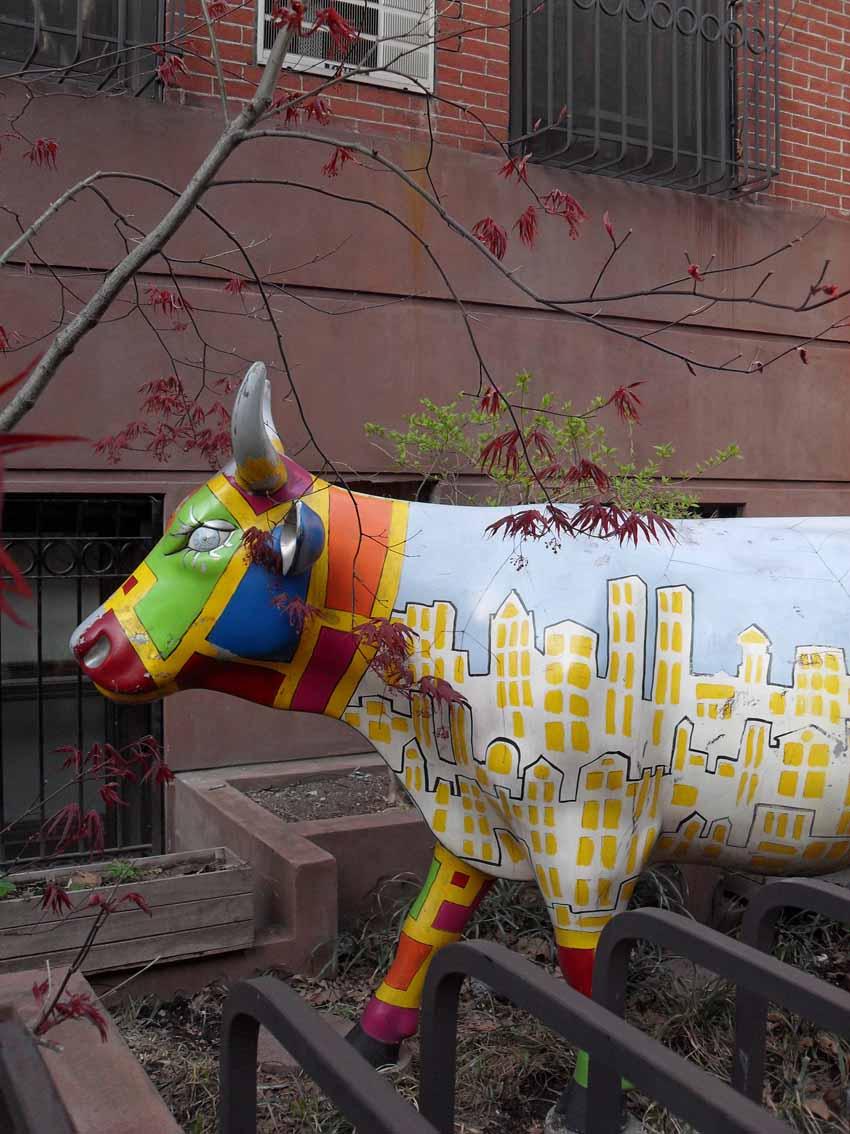 vaca en jardin
