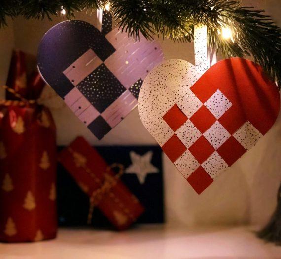 Dansk Jul: Julehjerte – traditionelle Papierherzen für den Weihnachtsbaum