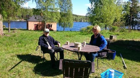 In-Marie på Oljeön med Lars Larssson