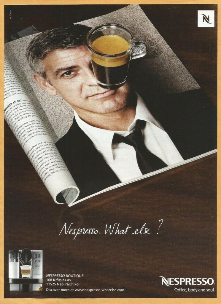 nespresso cà phê george clooney thu nhập thụ động