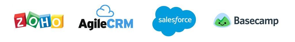 CRM Integration zoho agile crm basecamp salesforce