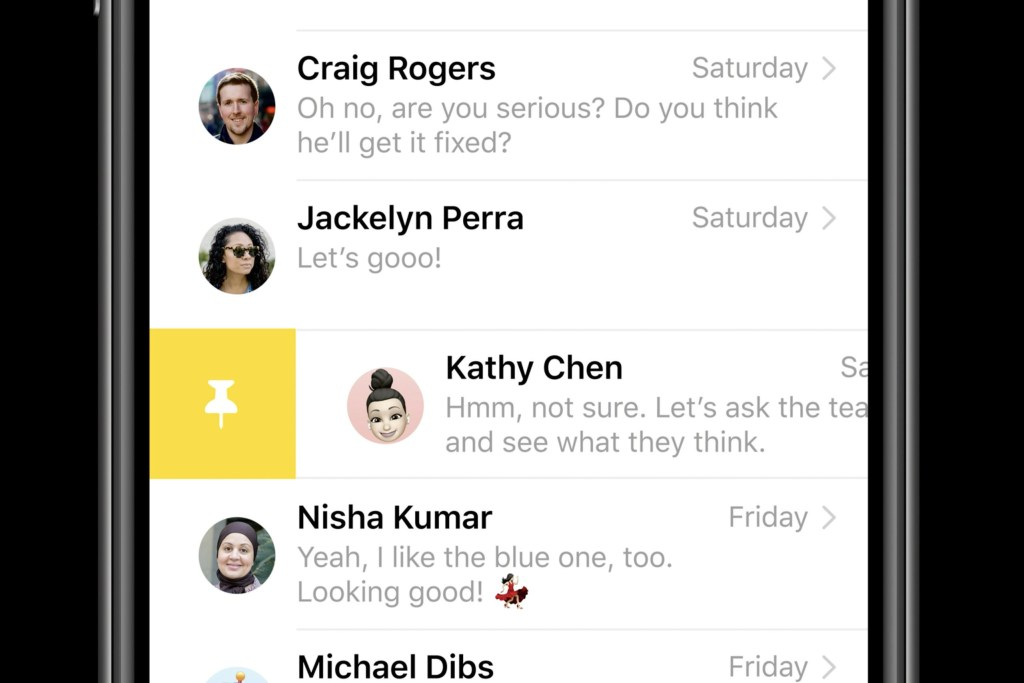 iOS 14 features - messages