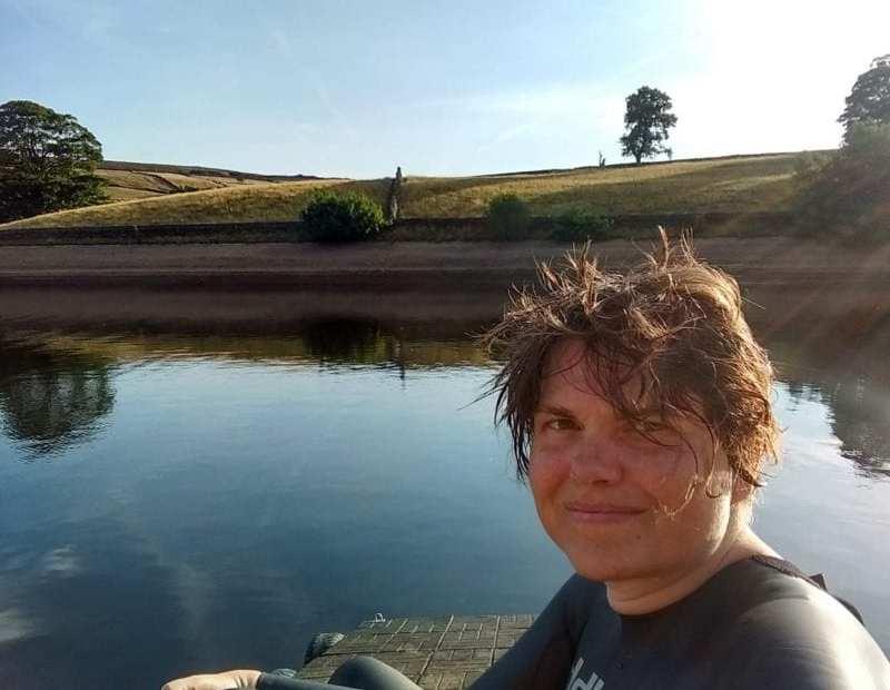 Katie at a reservoir