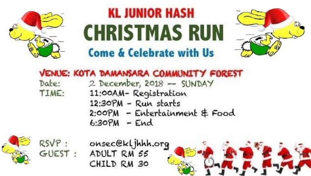 Run #451, 2nd December 2018 – Christmas Party