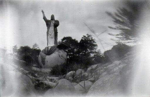 "Bayu Rimba, ""Statue of Christ"" Indonesia (member of PAMBETH KOTECKA group)"
