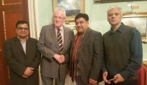 Former Mayor City of London with British Pakistani journalists before his official tour to Pakistan 2017