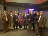 Pakistani Journalists with Rahila Durrani first Woman Speaker of Balochistan Assembly and host of the event Dr Ashraf Chohan in London 2017