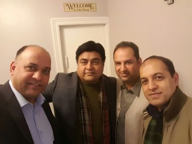 President PPCUK Mobeen Chaudhry, Mussarat Iqbal and Adeel Khan visited President PPCUK Yorkshire Shakil Anjum Rajpoot in Bradford 2017