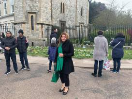 A community activist Hina Malick visiting Winsor Castle to pay tribute to HRH Prince Phillip