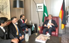 Foriegn Minister Shah Mehmood Qureshi is meeting community leaders during his visit to Pakistan Consulate in Germany