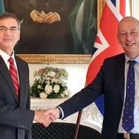 پاکستان ہائی کمشنر کی برطانیہ کے تجارتی نمائندے مارک ایسٹ وڈ سے ملاقات، دو طرفہ تجارت پر تبادلہ خیال