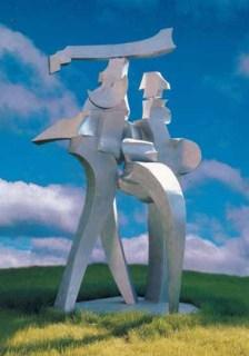 Il Grande Colloquio 300x150x180 cm 1996 Alluminium