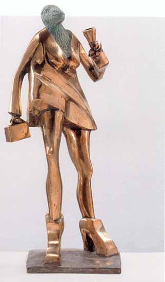 Snake Woman 35x25x16 cm 2001 bronze