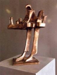 Uomo Industria 42x26x17 cm 1978 bronze