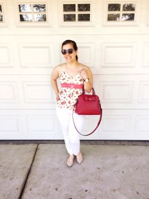 ootd: Guess Tank, Lucky Brand White Denim, JINS Eyewear