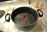 Begin boiling your water early becouse it w=takes a while to start boiling.