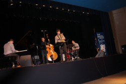 This group of musicians form the Western Jazz Quartet. They have all studied at Western Michigan University. Photo Credit / Alexis Martin