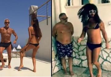 Tancujúci milionár Gianluca Vacchi sa dočkal paródie!
