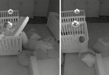 Kamera v izbe detí odhalí celkom nové skutočnosti. Toto napríklad stvárajú dvojročné dvojičky v noci!