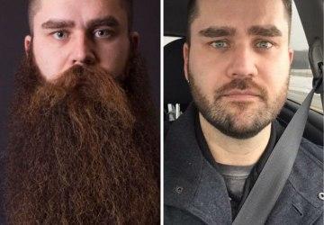 Pozrite sa, ako sa muži zmenia po oholení dlho pestovanej brady. Neuveríte, že sa jedná o rovnaké osoby