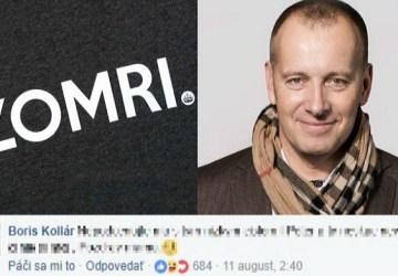 Satirická facebooková stránka ZOMRI si vystrelila z Borisa Kollára. Ten im to ale spočítal aj s úrokmi