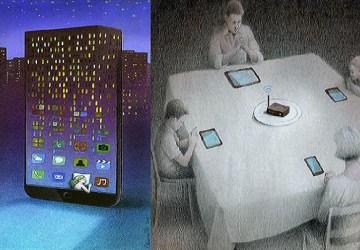 Umelec svojimi ilustráciami kritizuje dobu: Pripojenie na internet nie je všetko!