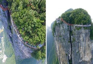 Tento sklenený chodník sa nachádza vo výške viac než 1 kilometer. Trúfli by ste poprechádzať sa po ňom?