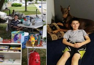 Má iba 10 rokov a rozhodol predať svoje hračky, aby zachránil svojho psíka. Ten mu už roky pomáha