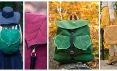 Rozkošný batoh v tvare listu, ktorý vám bude navždy pripomínať jeseň