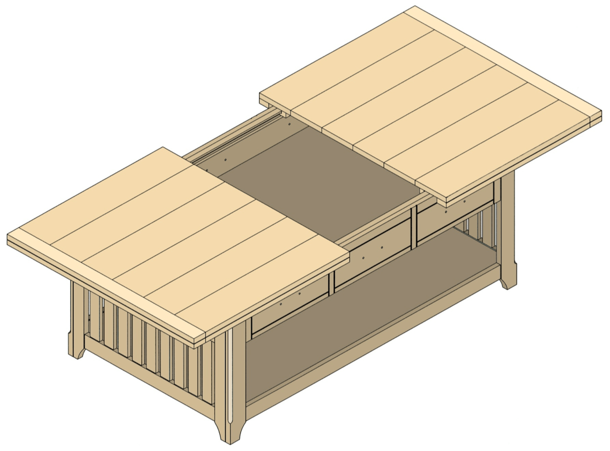 DIY Plans A Coffee Table With Storage Download portable ... on Coffee Table Plans  id=26583