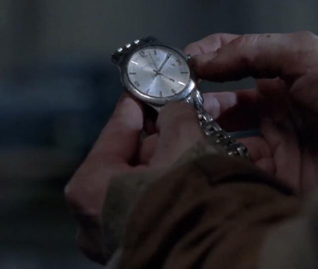 Reloj plata con blanco the walking dead