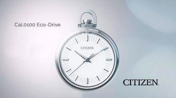 Reloj de bolsillo CITIZEN en color plateado con blanco