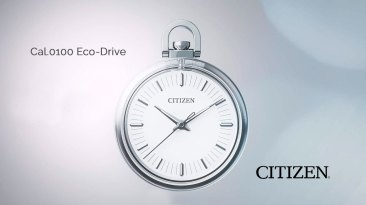 Reloj de bolsillo CITIZEN en color plateado con blanco