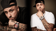 Hublot Ambassador Nicky Jam wearing the Big Bang Unico King Gold Pavé