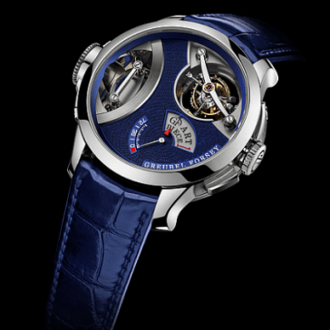 Reloj azul pieza de arte